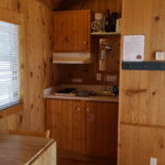 A cabin kitchenette