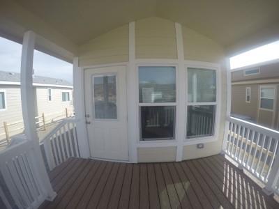 A Park Model porch
