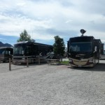 RVs parked in their sites