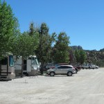 RVs and cars parked at their sites
